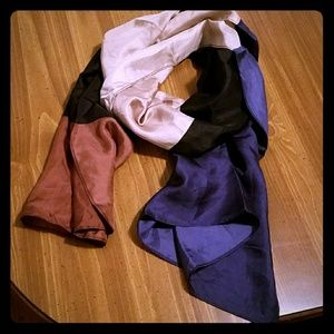 Ann Taylor silky colorblock scarf